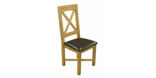 Cross Back Oak Dining Chair