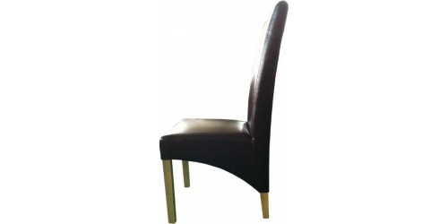 Contempo Leather Dining Chair in Brown