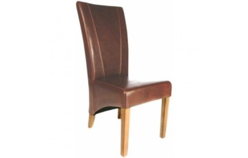 Contempo Leather Dining Chair in Tan