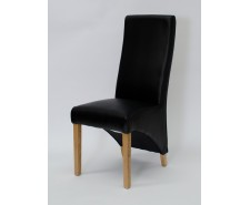 Whistler Leather Dining Chair in Noir