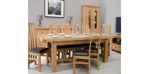 Marseille Solid Oak Grand Extending Dining Table