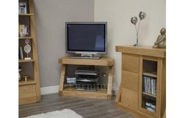 New York Solid Oak Furniture Corner TV Unit