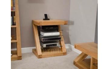 New York Solid Oak Hi Fi Cabinet