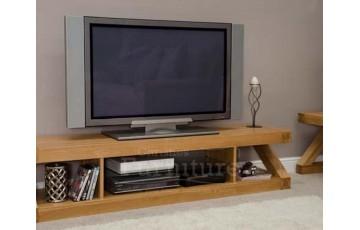 New York Solid Oak Furniture Large Plasma TV Unit