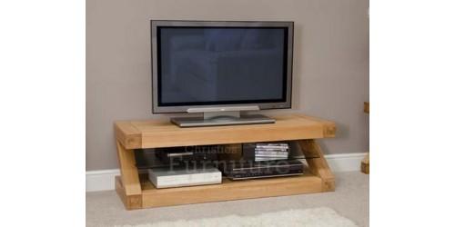 New York Solid Oak Furniture Plasma TV Unit