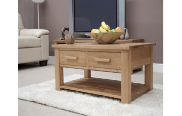 Sherwood Deluxe Oak 3ft x 2ft 2 Drawer Coffee Table