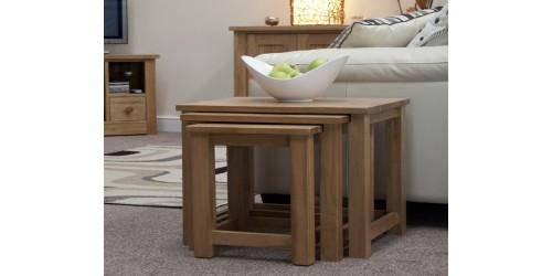 Sherwood Deluxe Oak Nest of Tables