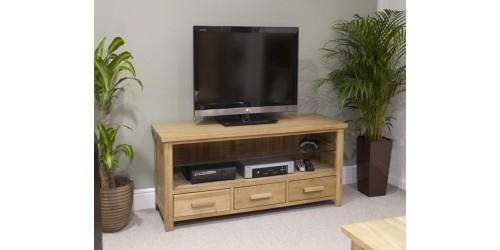 Sherwood Deluxe Oak Plasma TV Unit
