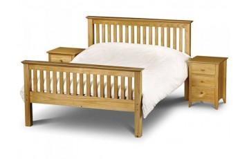 Madrid Pine 4ft6 High Footend Bed Frame