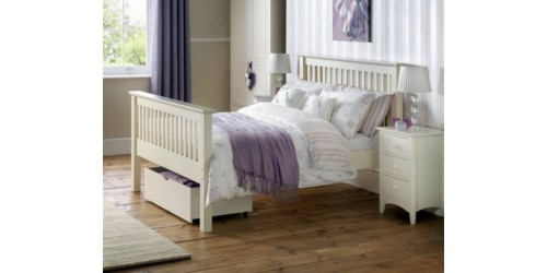 Madrid Stone White 5ft High Footend Bed Frame