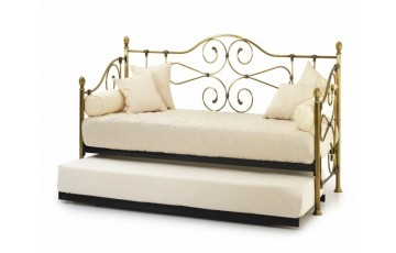Francis Antique Brass day bed with guest bed