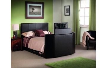 Optika Brown 5ft TV Bed Frame