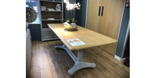 Mila 1.6m-2.1m extending Dining Table - SHOP FLOOR CLEARANCE