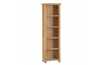 Corby Oak Large Narrow Bookcase