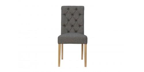 Boston Fabric Chair Dark Grey