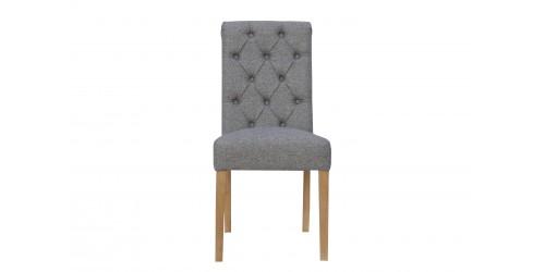 Boston Fabric Chair Light Grey