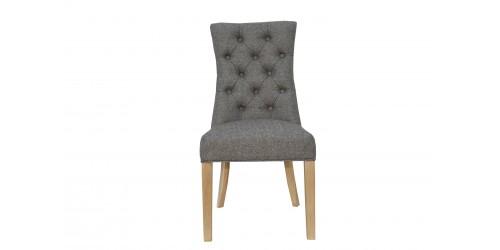 Carla Curved Chair Dark Grey