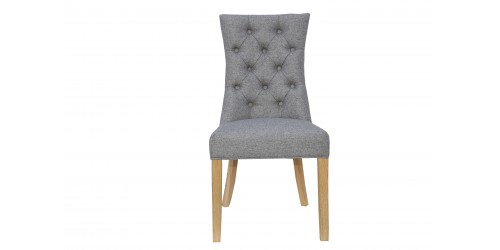 Carla Curved Chair Light Grey