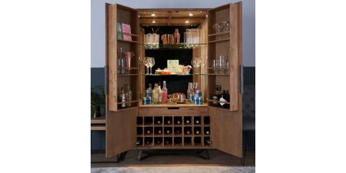 Indigo Wine Display Cabinet