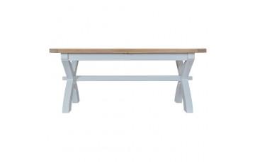 Trieste 1.8m Cross Leg Extending Dining Table
