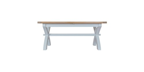 Trieste 1.8m Cross Leg Extending Dining Table