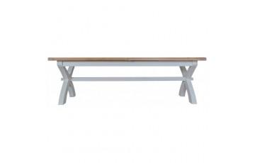 Trieste 2.5m Cross Leg Extending Dining Table