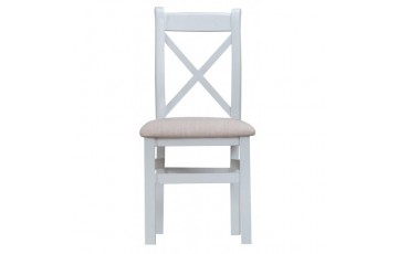 Trieste Cross-Back Dining Chair (Padded Seat)
