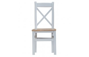 Trieste Cross-Back Dining Chair (Wooden Seat)