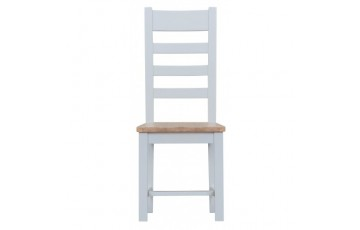 Trieste Ladder-Back Dining Chair (Wooden Seat)