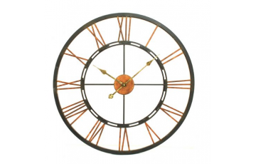 Large Metal Skeletal Wall Clock
