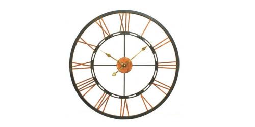 Large Metal Skeletal Wall Clock