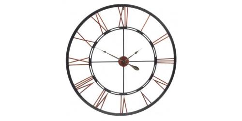Oversized Metal Skeletal Wall Clock