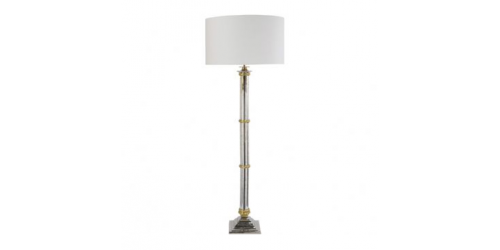 Turner Antique Silver Empire Column Floor Lamp