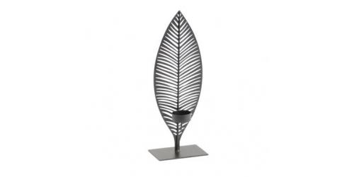 Black Leaf Tealight Holder