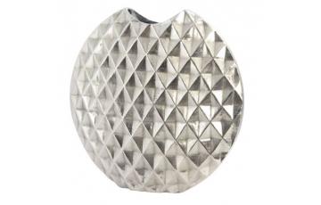 Geo Cut Aluminium Ellipse Vase Large