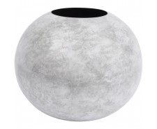 Marble Effect White Spherical Vase