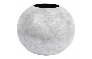 Marble Effect White Spherical Vase