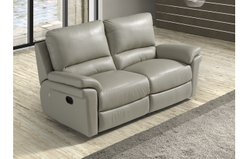 Douglas 3 Seater Italian Leather Sofa