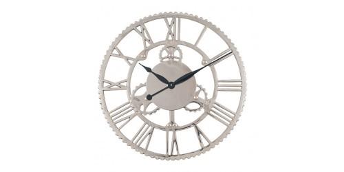 Shiny Nickel Large Cog Design Wall Clock