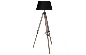 Wooden Tripod Floor Lamp with Shade