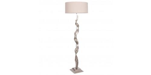 Aluminium Twist Sculpture Floor Lamp Complete