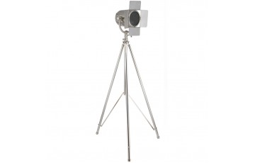 Nickel Tripod Film Floor Lamp Complete