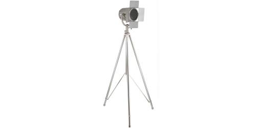 Nickel Tripod Film Floor Lamp Complete