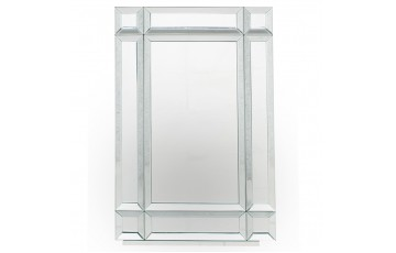 Mirrored Glass Oblong Wall Mirror