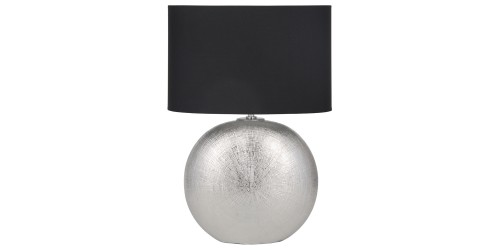 Silver Ceramic Table Lamp Complete