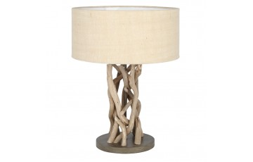 Driftwood & Natural Jute Table Lamp Complete