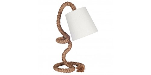 Rope Task Table Lamp Complete with Natural Shade
