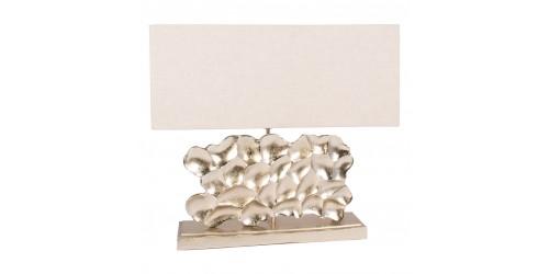 Aluminium Rectangle Sculpture Table Lamp Complete