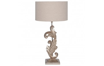 Champagne Scroll Sculptural Table Lamp