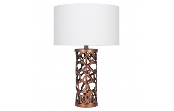 Copper Bronze Metal Cut Out Table Lamp